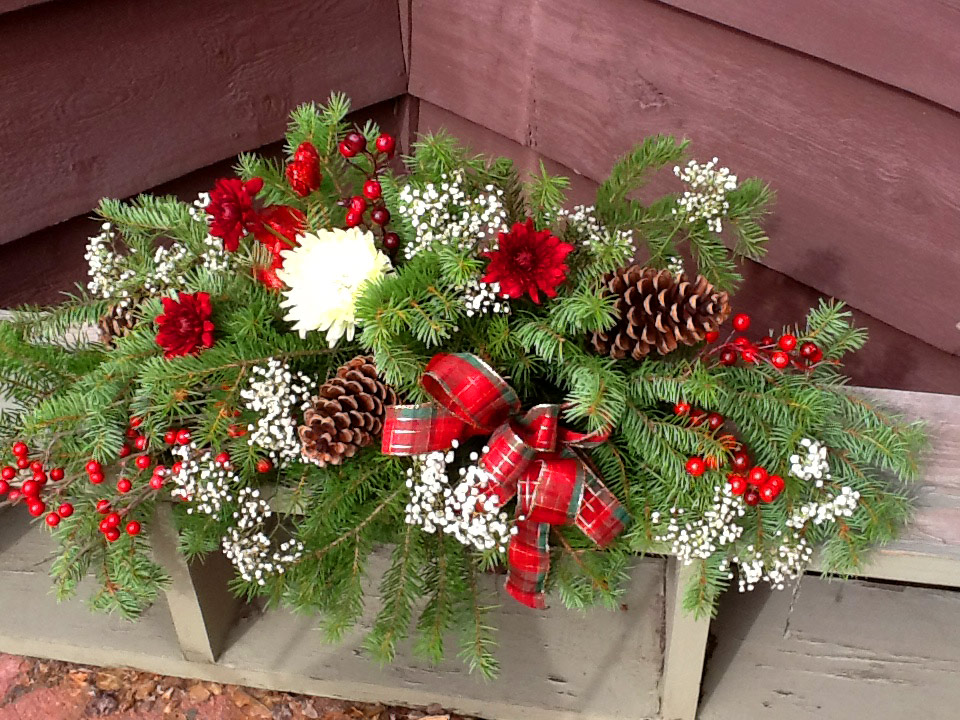 Holiday Long and Low Centerpiece